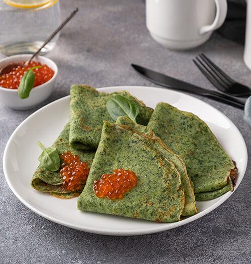 Тесто для шпинатных блинов