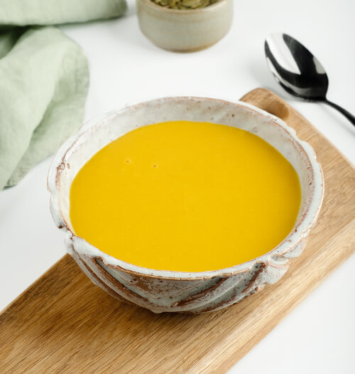 Суп-пюре тыквенно-чечевичный